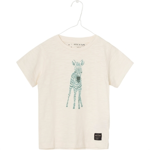 T-Shirt Antique hvid m. Zebra