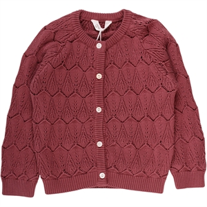 MÜSLI KNITTET CARDIGAN - DUSTY BERRY