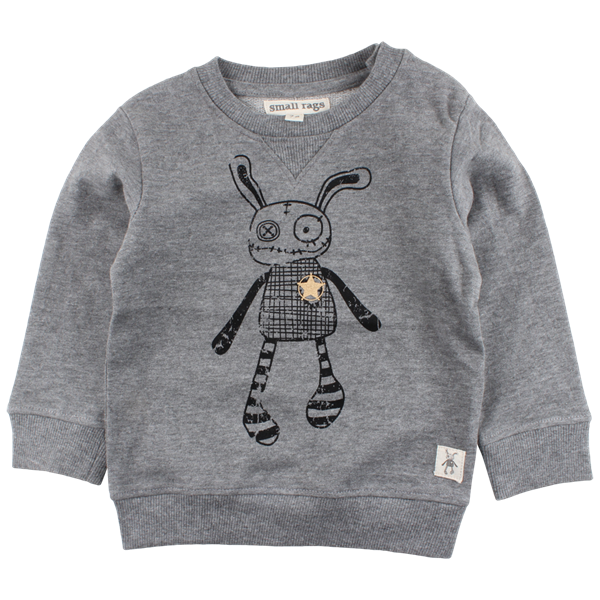 SMALL RAGS HUBERT SWEATSHIRT - GRÅ