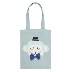 SÖDAHL MONTY MONKEY TOTE BAG 25X32 - TEAL