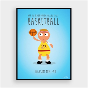 PLIIO SPORTS PLAKAT FAR - BASKETBALL