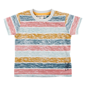 SMALL RAGS T SHIRT MED STRIBER - PASTELFARVET