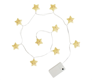 A LITTLE LOVELY COMPANY STRING STARS LIGHT YELLOW