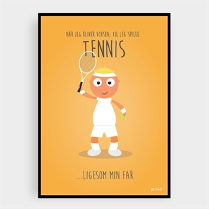 PLIIO SPORTS PLAKAT FAR - TENNIS