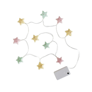 A LITTLE LOVELY COMPANY STRING STARS LIGHT PASTEL