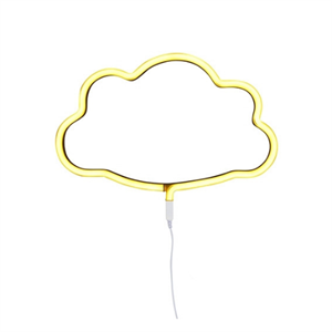 A LITTLE LOVELY COMPANY NEON LIGHT CLOUD YELLOW