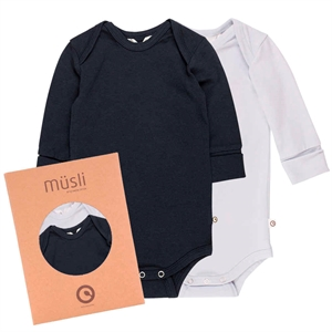 MüSLI COZY ME 2-PAK L/SL BODY BLUE/NAVY