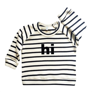 ORGANIC ZOO SWEATSHIRT HI STRIPES