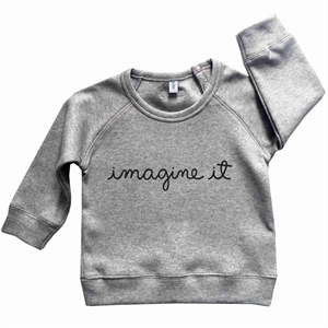 ORGANIC ZOO SWEATSHIRT IMAGINE IT (GREY)