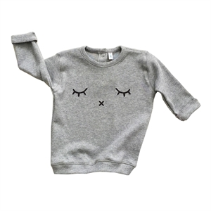 ORGANIC ZOO SWEATSHIRT SLEEPY (GREY)