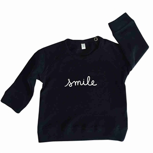 ORGANIC ZOO SWEATSHIRT SMILE (NAVY)